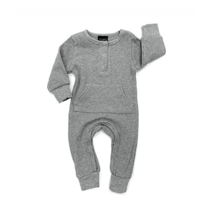 Thermal Romper - True Grey