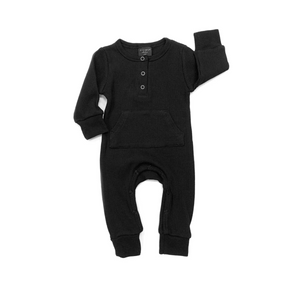 Thermal Romper - Black