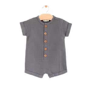 Muslin Short Button Romper