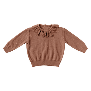 Petal Knit Sweater - Clay