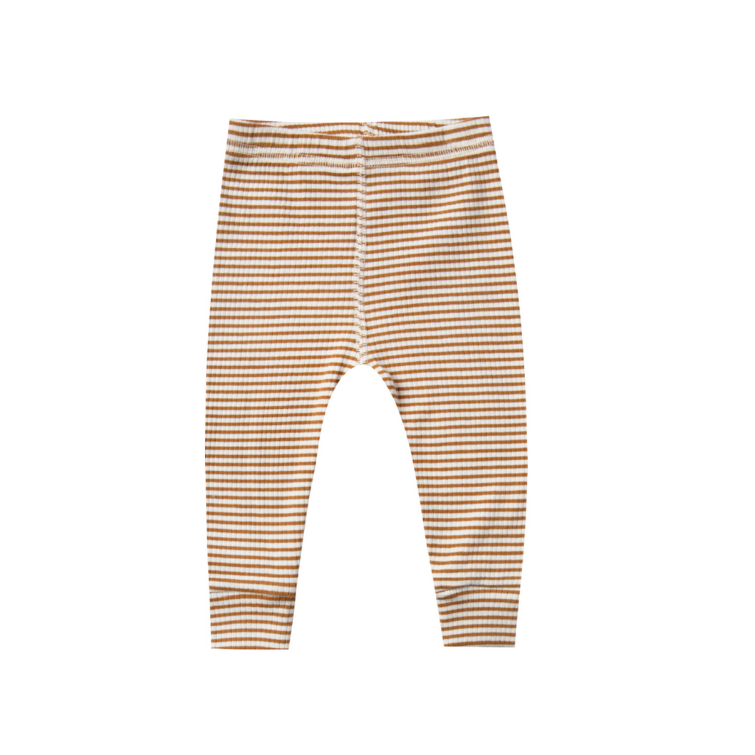 Ribbed Legging - Walnut Stripe