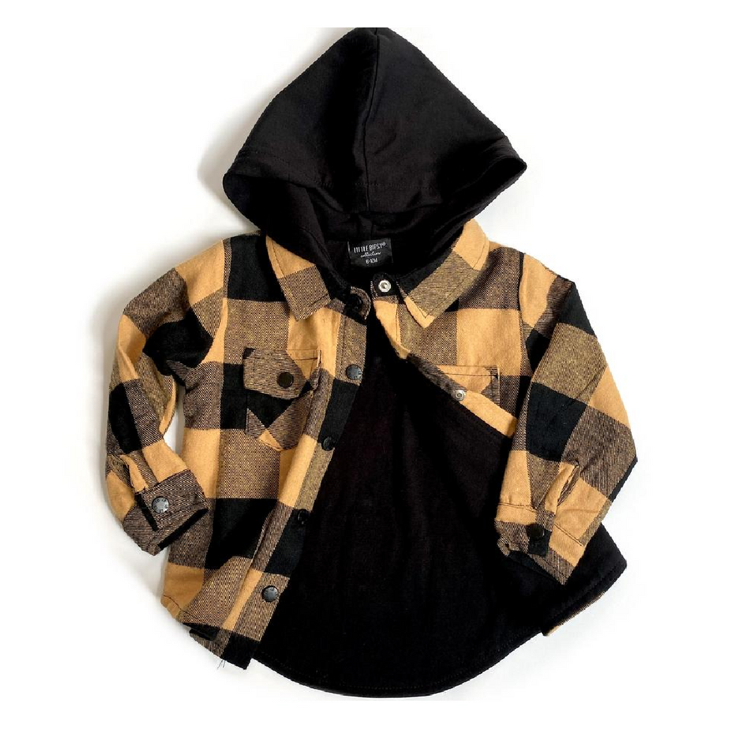 Hooded Flannel - Mustard