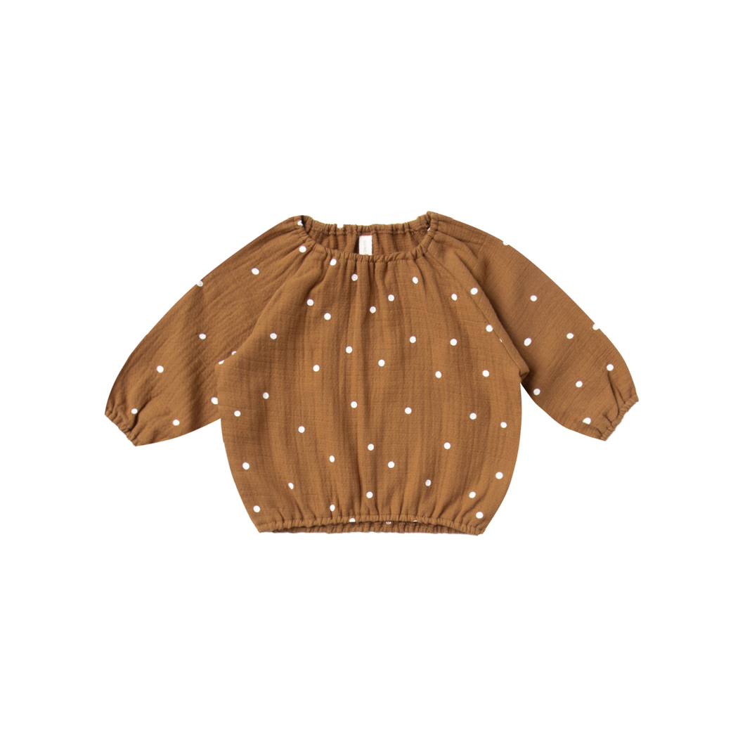 Cinch Longsleeve Tee - Walnut