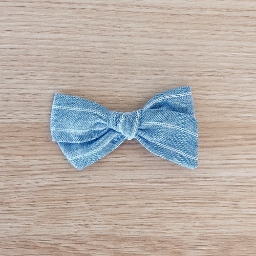 Chambray Stripe Bow