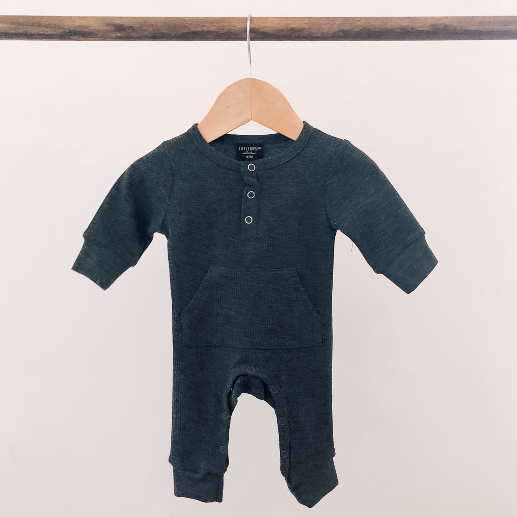 Thermal Romper - Charcoal