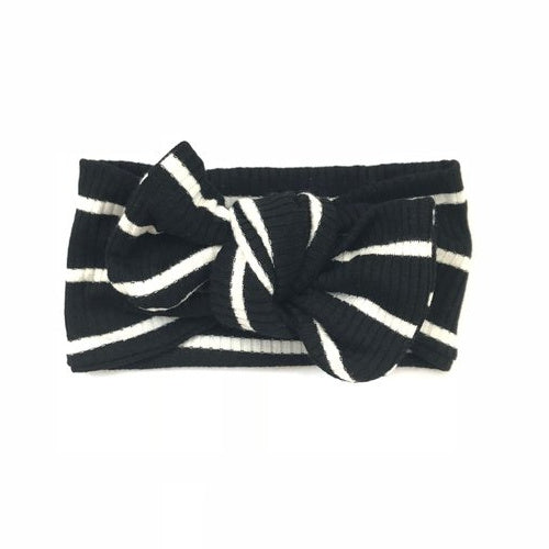 Black and White Stripe Headband