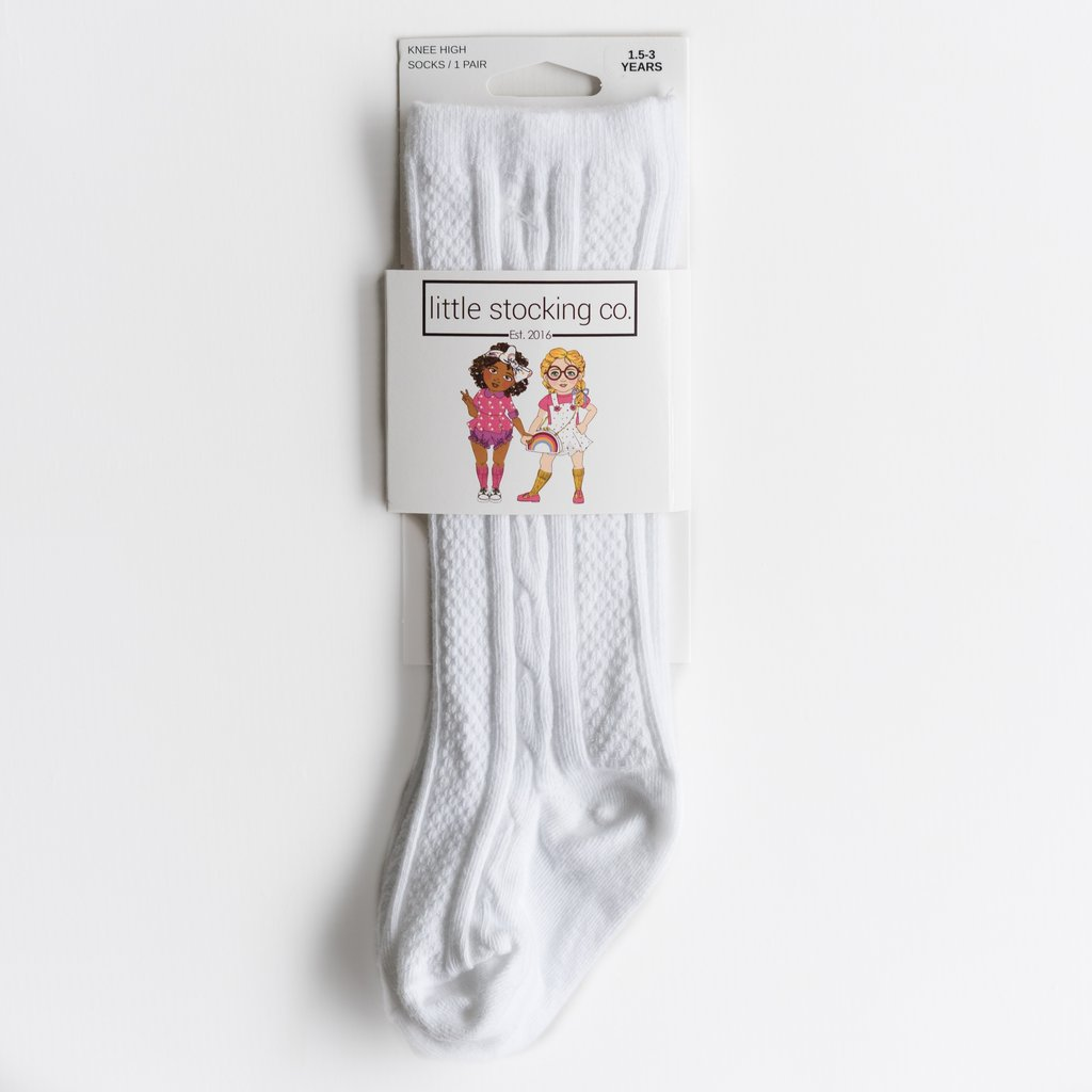 Knee High Socks - White