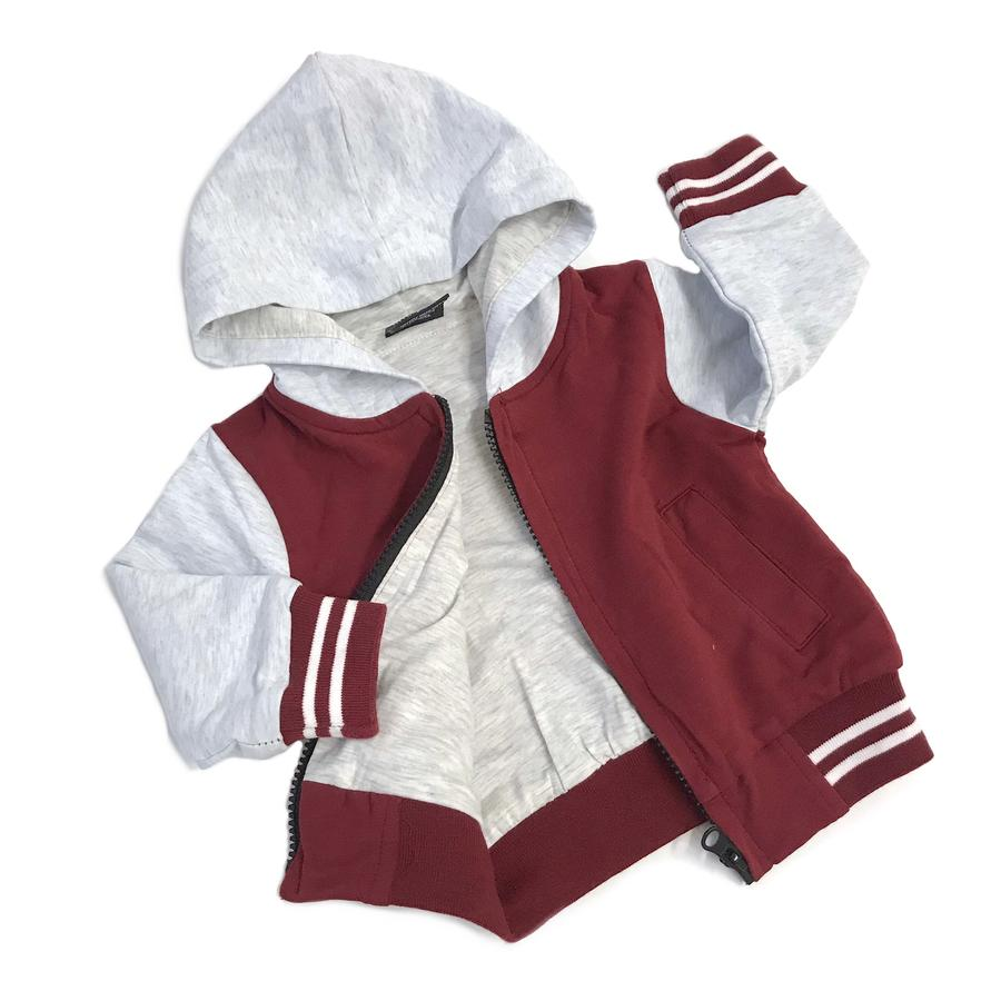 Maroon Hooded Sport Jacket