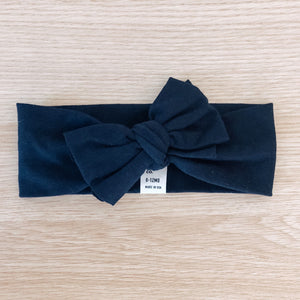 Bow Headband - Navy