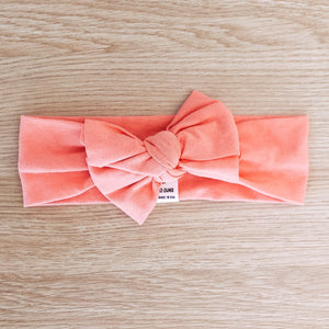 Bow Headband - Peach