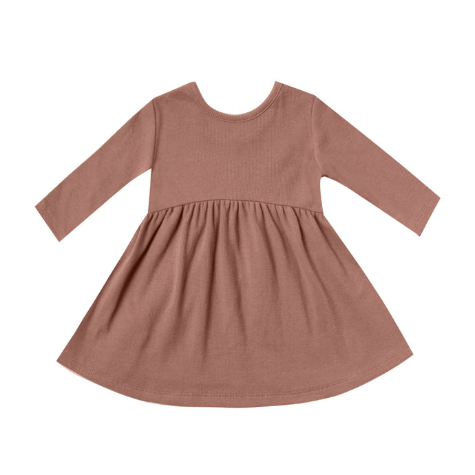 Ribbed Longsleeve Dress - Clay
