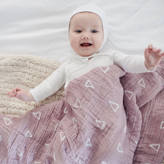 Blush Triangle Swaddle