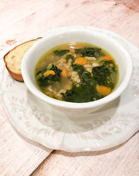 Tuscan White bean and Sausage soup with Kale