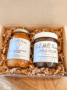 Foodie Heart - Farm Jam & Goat's Milk Caramel Gift Set