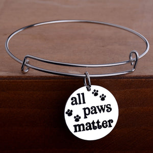 All Paws Matter Bangle - Puppy Loves Fashion