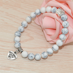 Best Friend Natural Stone Bracelet - Puppy Loves Fashion