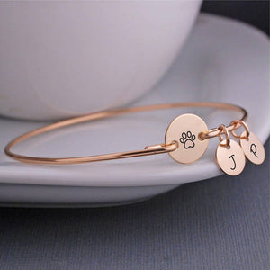 Personalized Paw Print Bracelet - Puppy Loves Fashion