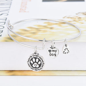 Dogs Leave Paw Prints On Our Hearts Bracelet