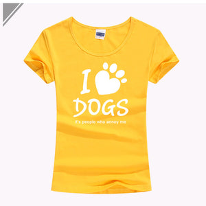 I Love Dogs It's Human That Annoy Me T-Shirt - Puppy Loves Fashion