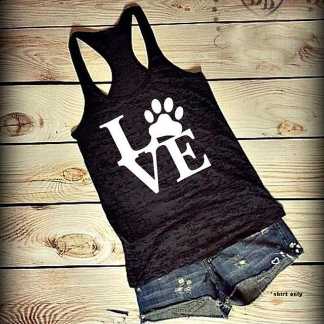 Popular Women Tank Tops Paw Love - Puppy Loves Fashion