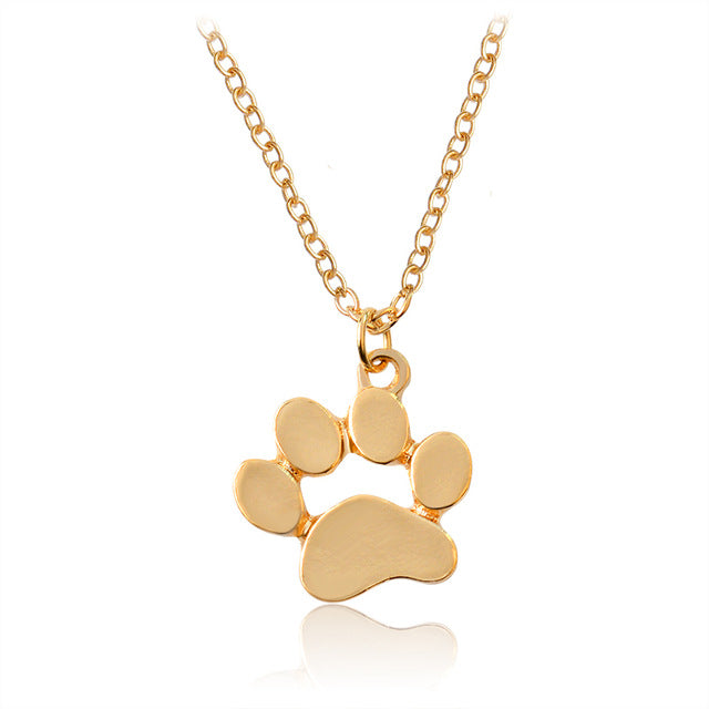Simple Dog Print Pendant Necklace - Puppy Loves Fashion