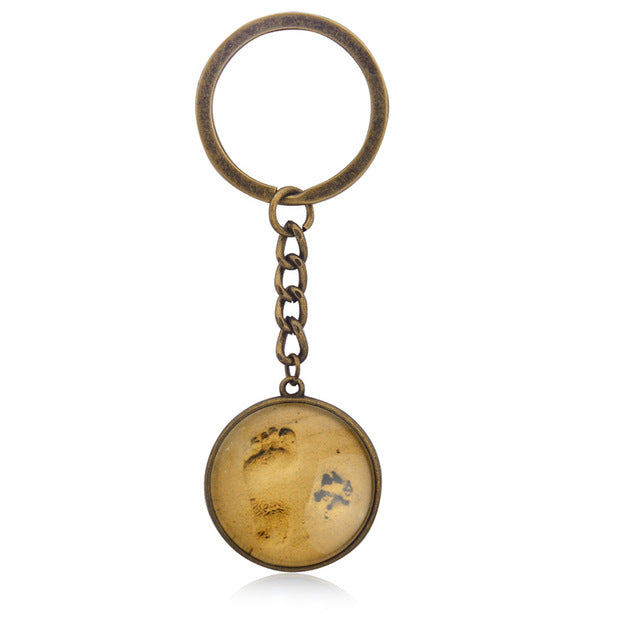 Paw Footprint Pendant or Keychain - Puppy Loves Fashion