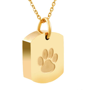 Gold Color Stainless Steel Memorial Ash Holder - Puppy Loves Fashion