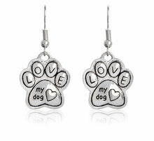 Love My Dog Drop Earrings - Puppy Loves Fashion