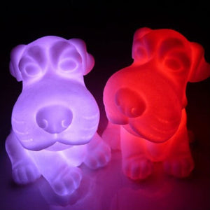 Colorful Dog Night Lamp - Puppy Loves Fashion