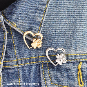 Heart Paw Brooch - Puppy Loves Fashion