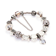Silver Plated Heart Charm Bracelet - Puppy Loves Fashion