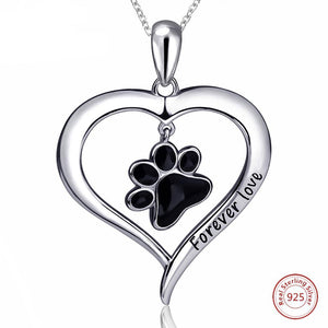 "Sterling Silver ""Forever Love"" Heart Necklaces - Puppy Loves Fashion"