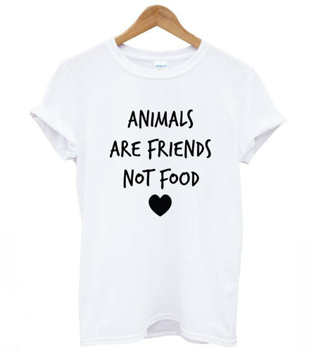 Animals Are Friends Not Food T-Shirt - Puppy Loves Fashion