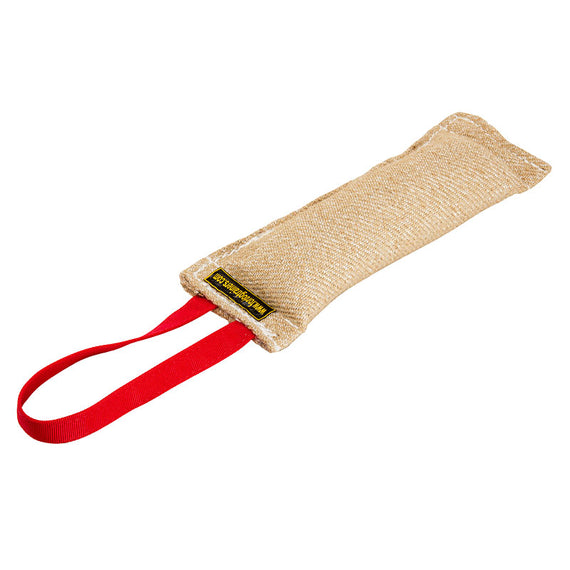 "Jute Bite Tug 1 Handle 2 1/3 x 12"" - DogSports4u"