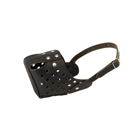Leather Dog Training Basket Muzzle with Padded Nose - DogSports4u