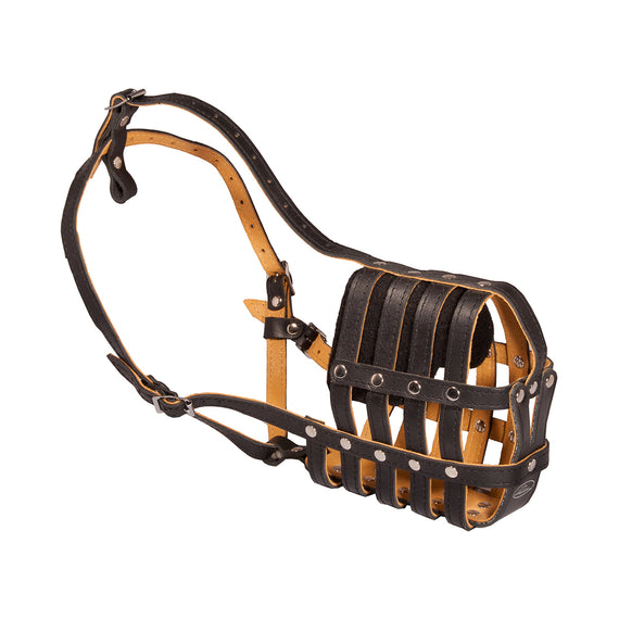 M41R - Everyday Light Super Ventilation Leather Basket Muzzle - DogSports4u
