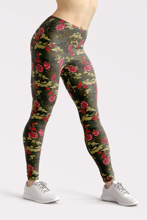 Camouflage Roses Leggings