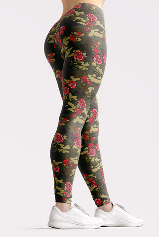 Image of Camouflage Roses Leggings