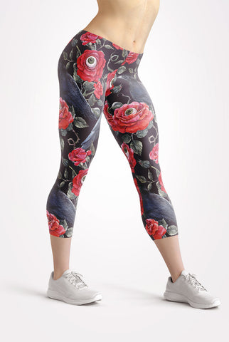 Image of Night Garden Capri Leggings