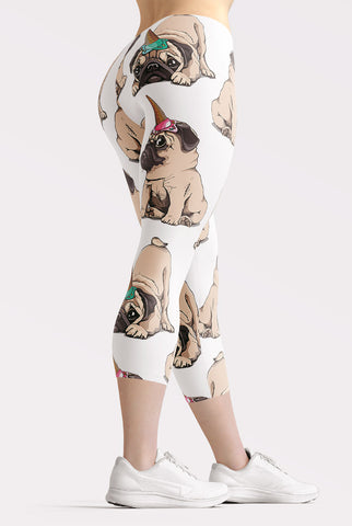 Pug Life Capri Leggings