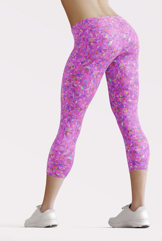 Image of Pink Mosaic Capri Leggings