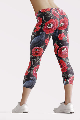 Night Garden Capri Leggings