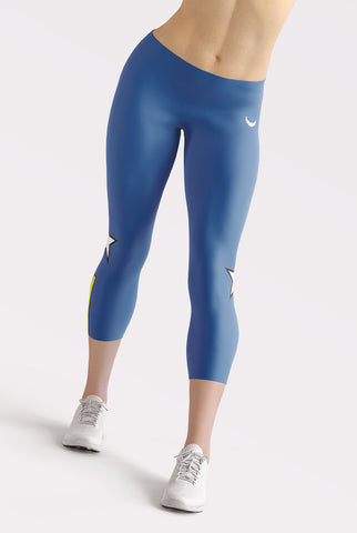 Image of Blue All Star Capri Leggings