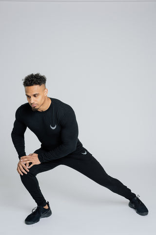 Image of Alpha Long Sleeve T-Shirt - Black