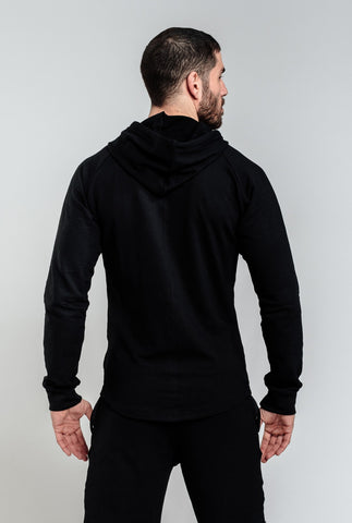 Image of Alpha Zip Hoodie - Black