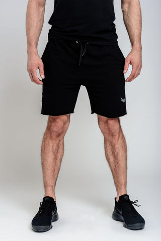 Alpha Sawn-Off Shorts - Black