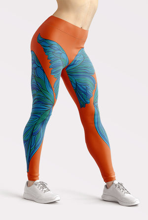 Butterfly Dreams Orange Leggings