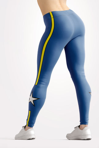 Image of Blue All Star Leggings