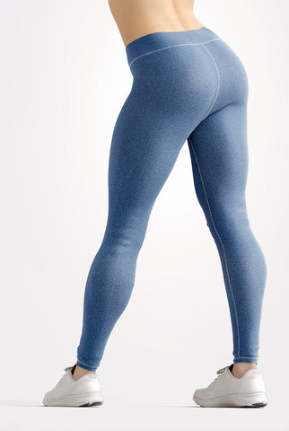 Image of Faux Blue Denim Jeans Leggings