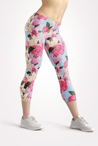 Image of Flowers of Paradise Capri Leggings